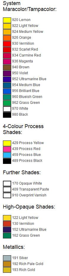 Colors - TPR